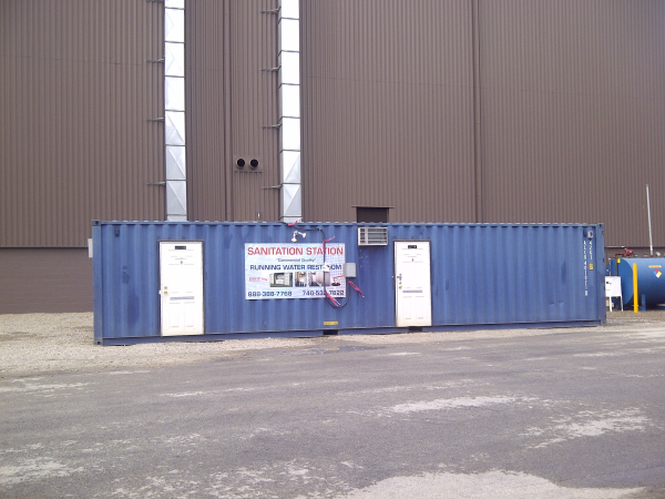 40ft shipping container sanitation station