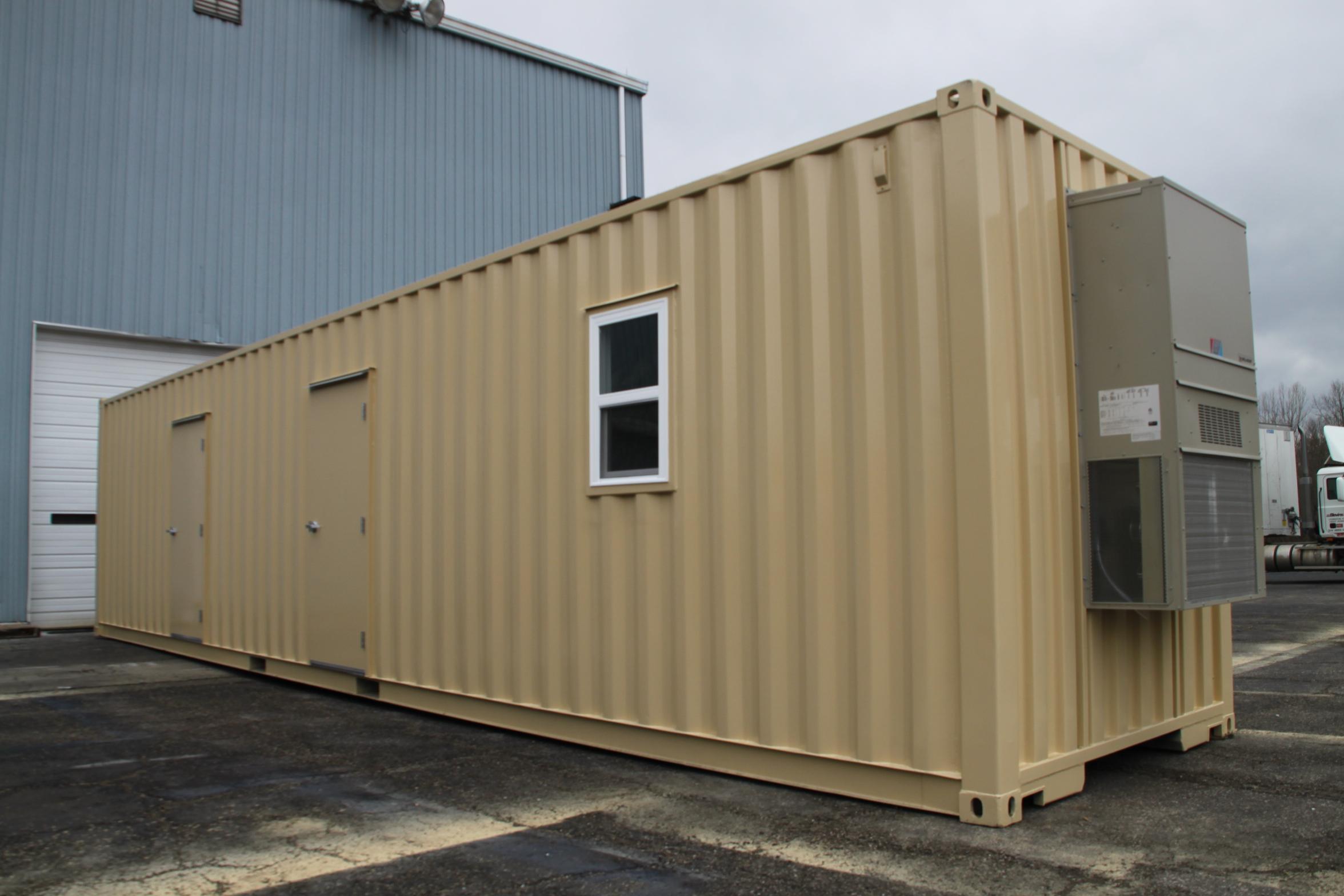 Dropbox inc custom milvan or conex box modifications - Conex container homes ...