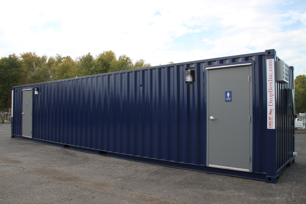 Shipping container mods blog containerized restroom trailer - Shipping container public bathroom ...