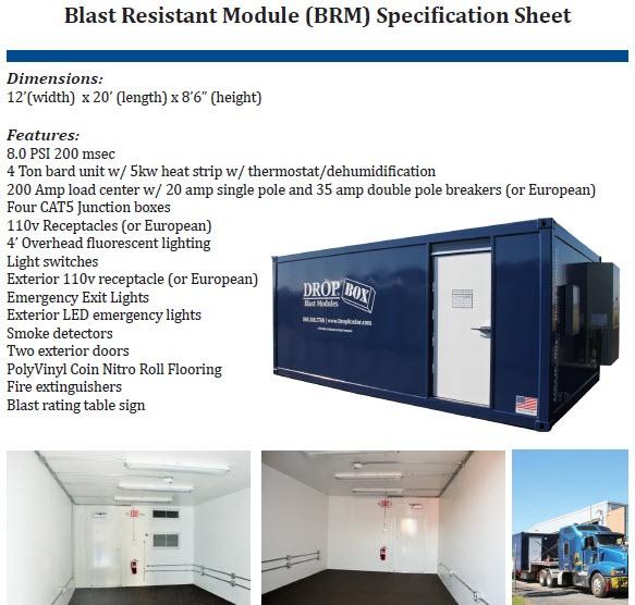 blast resistant office, custom blast resistant modules, blast module, blast resistant modules, blast resistant module, blast resistant module spec sheet, blast resistant module specification sheet