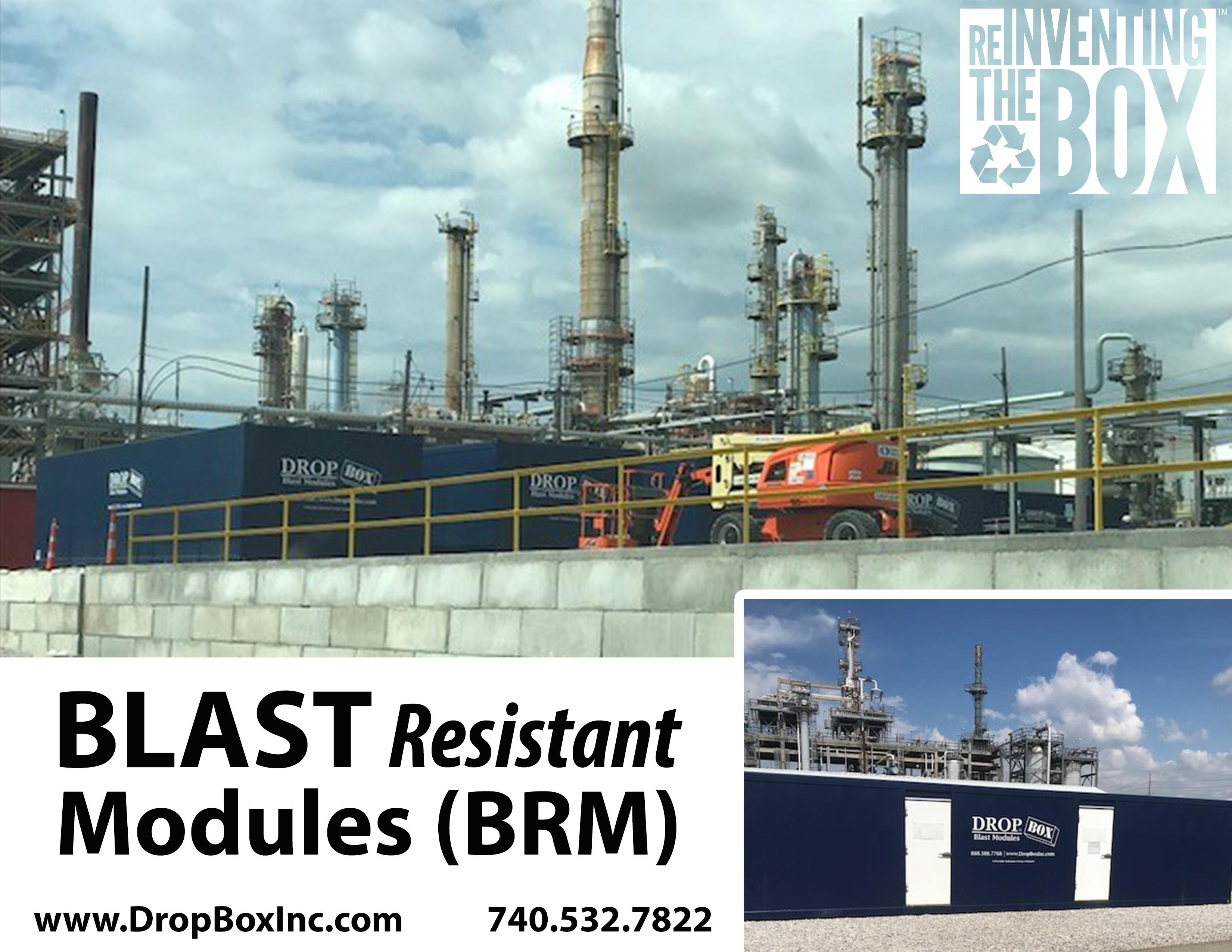 DropBox Inc, blast resistant office, BRM, custom blast resistant modules, modular blast resistant break room, blast module, blast modules, blast resistant modules