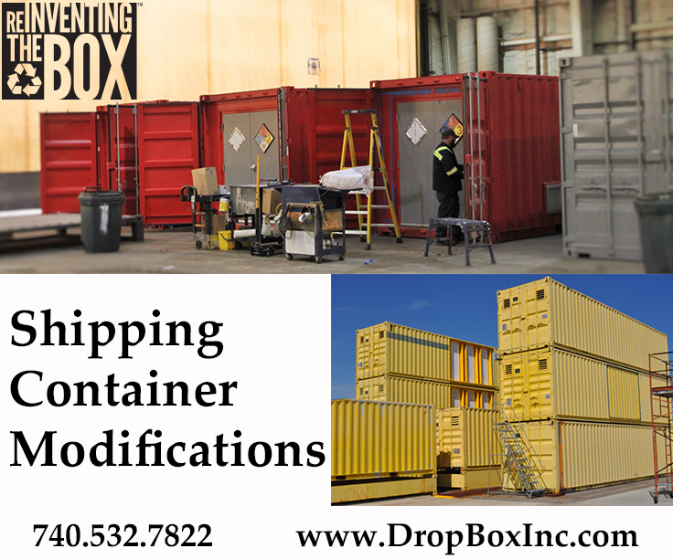 shipping container modification, DropBox Inc, custom shipping container modification, custom ISO shipping container modification, ISO shipping container modification, storage container modification, ReinventingTheBox