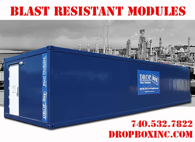 DropBox Inc, blast resistant break room, custom blast resistant modules, modular blast resistant office, modular blast resistant break room, blast resistant modules, blast resistant module floor plan, blast resistant module
