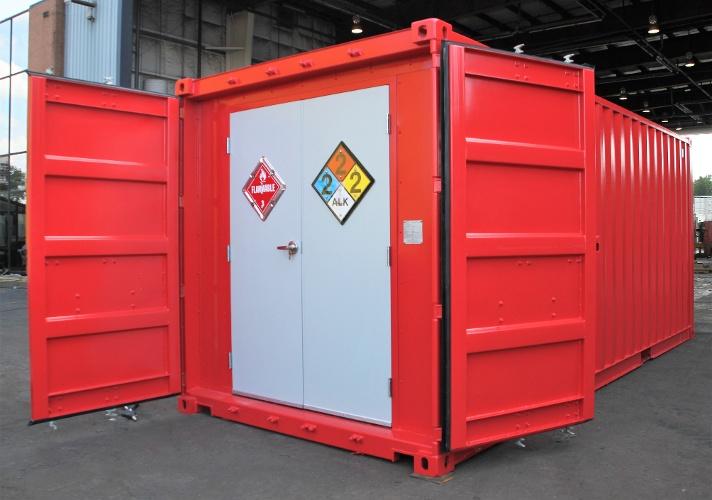 hazardous chem storage, containerized hazardous chemical storage, hazmat storage, portable hazmat storage, portable hazmat chemical storage, hazmat chemical storage