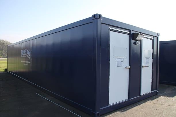 DropBox Inc, custom shipping container modification, blast box, blast module, blast modules, blast resistant tool crib, tool crib