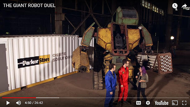 shipping container modification, ISO Shipping container modifications, DropBox Inc, ISO shipping container modification, Parker hose box, Parker Onsite, Parker Hannifin, Giant Robot Duel, Giant Robot Fight, youtube