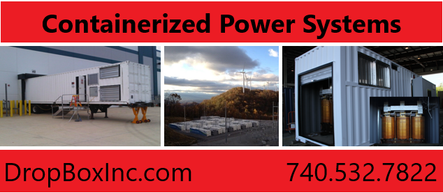 ISO Shipping container modifications, DropBox Inc, ISO Shipping container, custom shipping container modification, portable energy storage, containerized grid stabilization, containerized energy storage, portable power system, containerized power system, containerized grid stabilization power systems, ReinventingTheBox