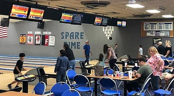 end-of-summer bash, bowling, photo booth, Spare Time, back-to-school, roller skating, laser tag