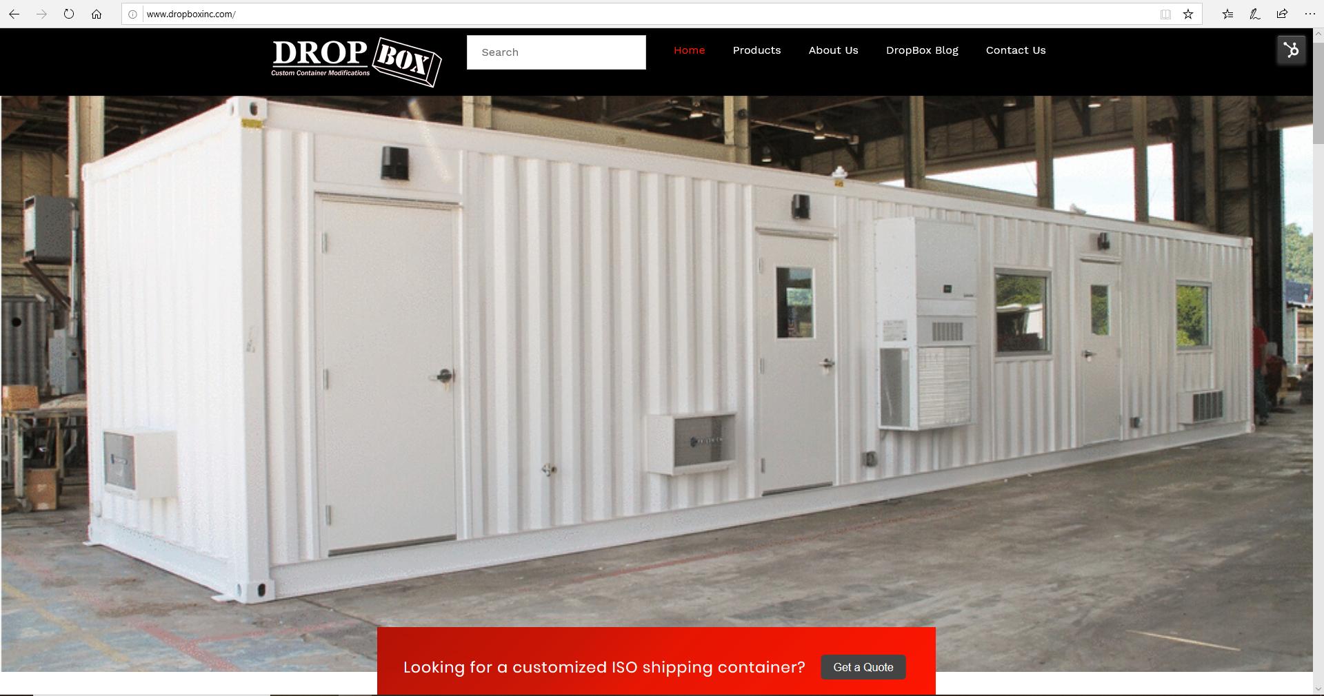 shipping container modification, DropBox Inc, dropboxinc.com, ReinventingTheBox