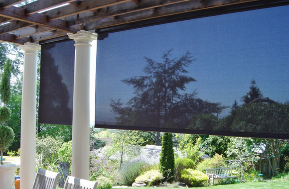 Cable Guided Exterior Shades With Lutron Motors