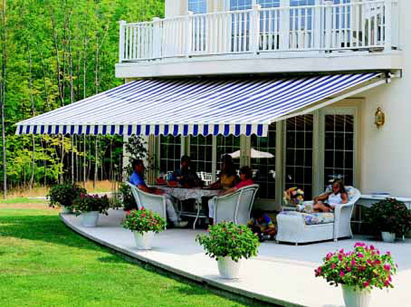 Awnings for patios and exterior windows Bay Screens amp Shades