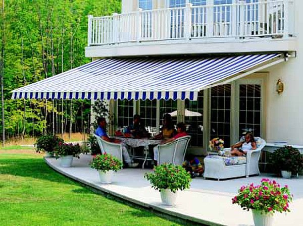 Awnings for patios and exterior windows bay screens for Balcony awning