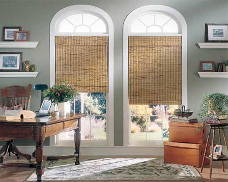 Woven wood shades from select natural woods Bay Screens amp
