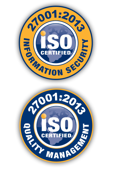 iso 9001 certified for quality management iso 27001 certified for data security