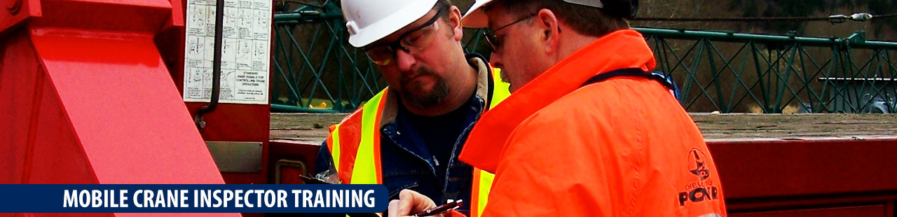 Mobile Crane Inspector Certification : Mobile crane inspector training