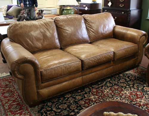 broyhill leather chair 2