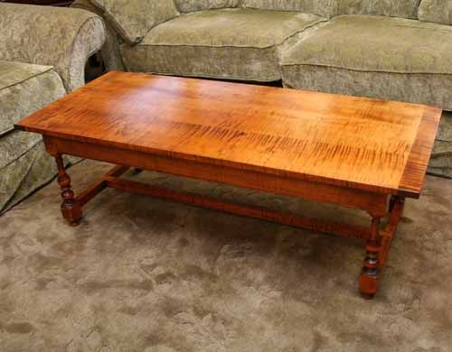 Dr Dimes Tiger Maple Coffee Table