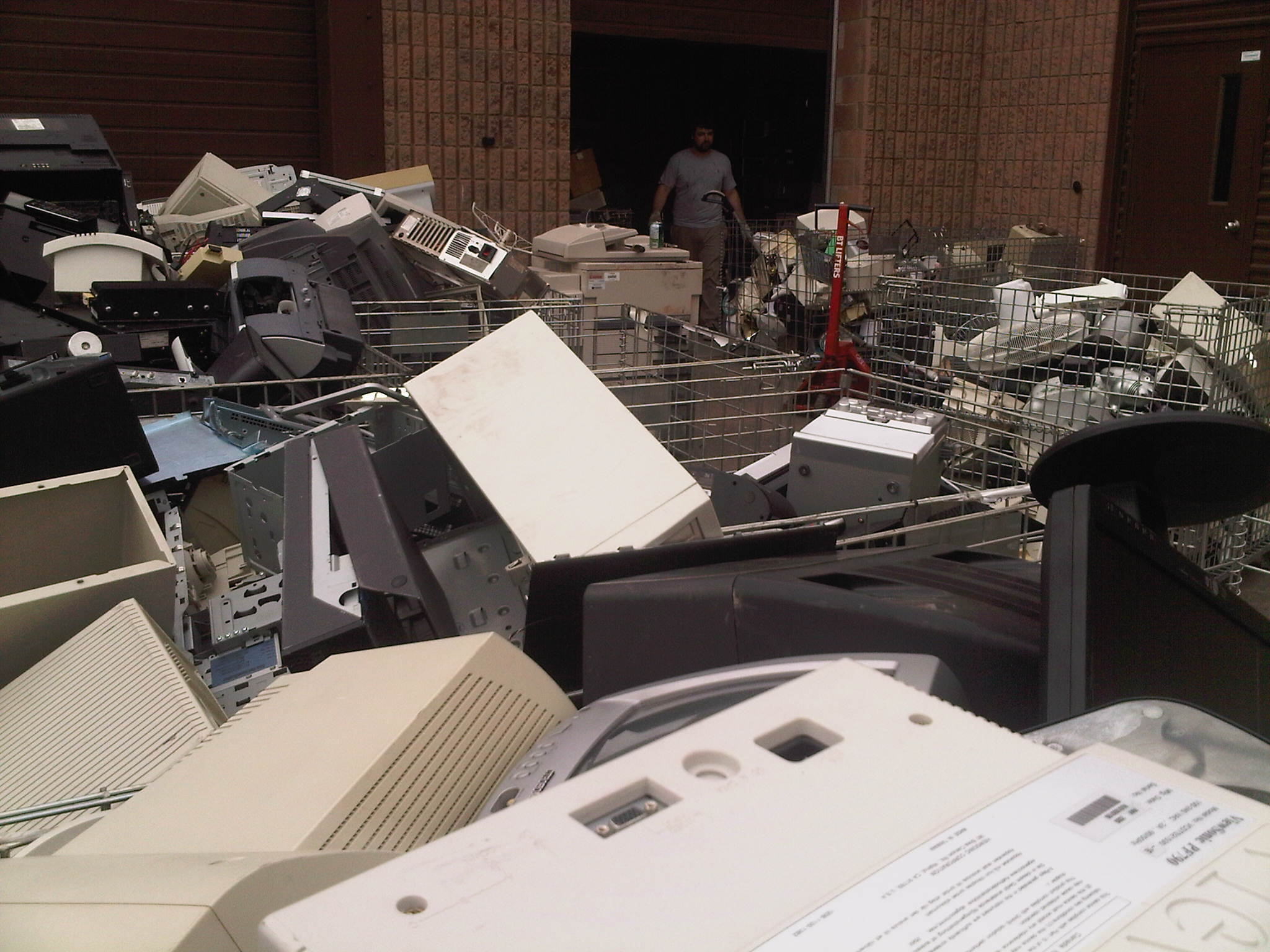 ewaste in the parking lot