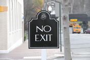 aluminum signs, directional signs