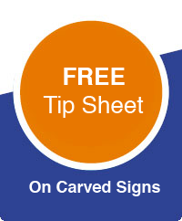 tip sheet on carved signs