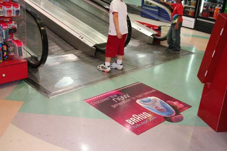 Floor Graphics Digitally Printed Floor Advertisements