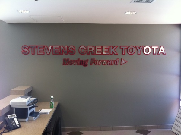 Toyota Stevens Creek >> Office & Lobby Signs   Sign Maker Santa Clara   Bay Area Ca