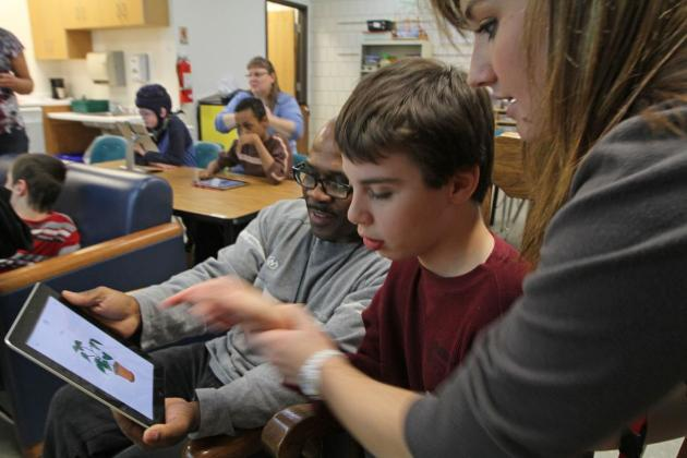 disabled students with iPads in the classroom, school wireless networks,