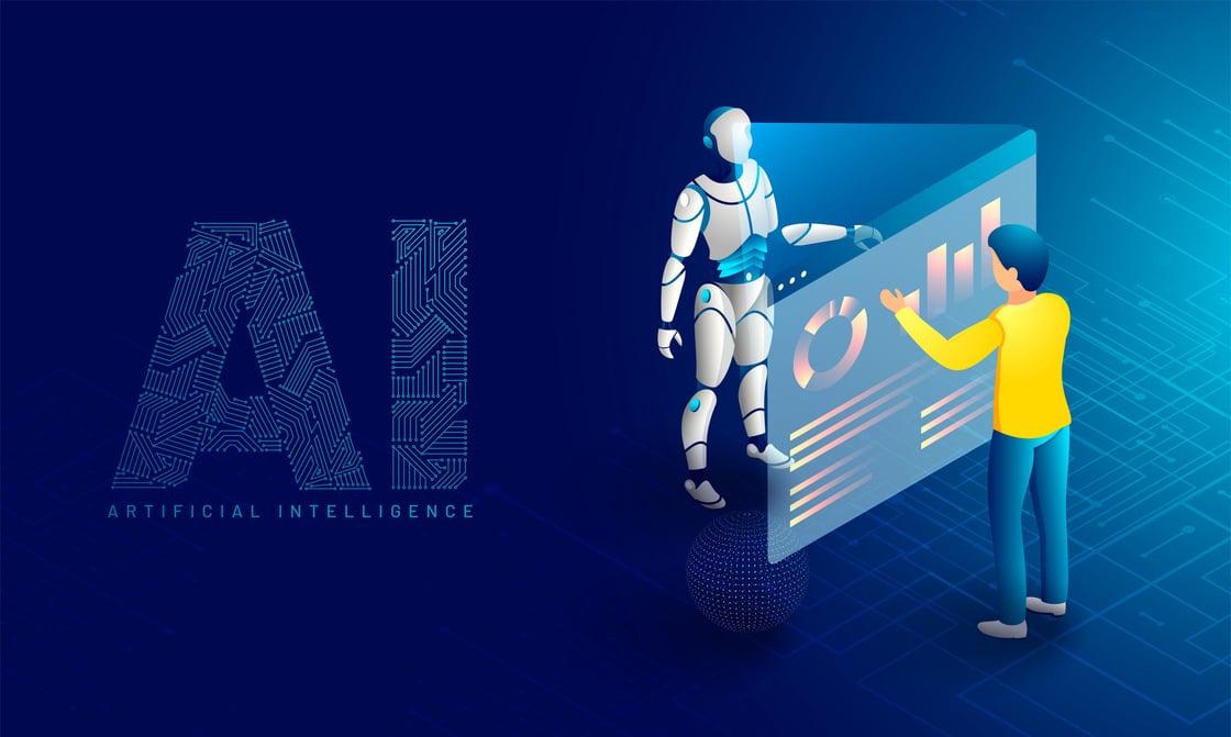 AI Robot and Human Interacting
