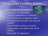 production considerations