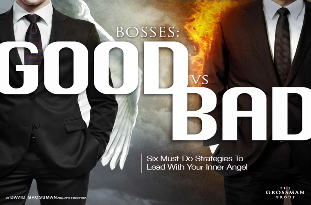 new ebook bosses good vs bad must do strategies to lead bad 6 must do strategies to lead your inner angel