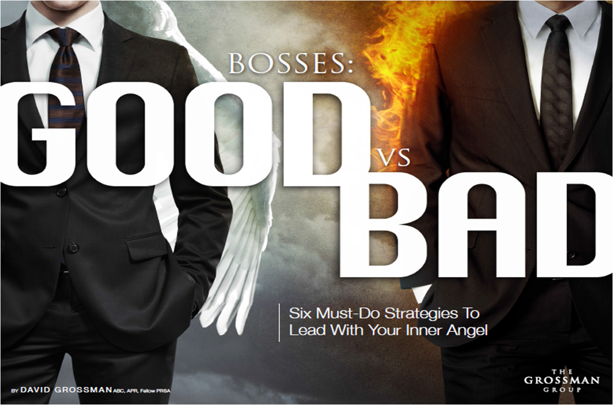 good bosses vs bad bosses To find out how good — or bad — a boss you are, the national federation of  independent business, a small business advocacy group,.