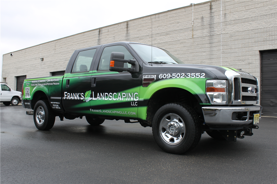 Ford truck full wrap with qr code ford truck full wrap with qr code