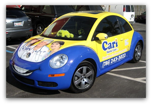 VW bug wrap