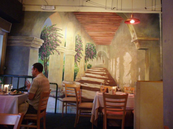 Custom wall wraps have lunch in paris for Mural restaurant