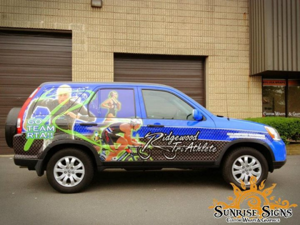 Small business vehicle wraps advertising
