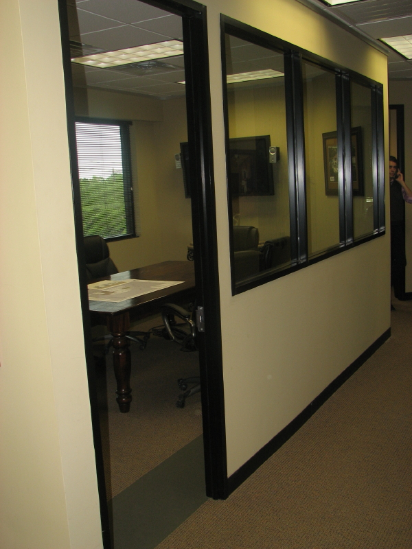 commercial office glass wall systems in austin