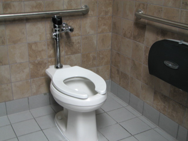 Commercial Toilets : Commercial ADA Compatible Toilet Partitions