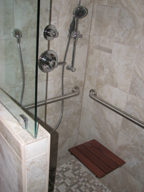 ADA compatible showers