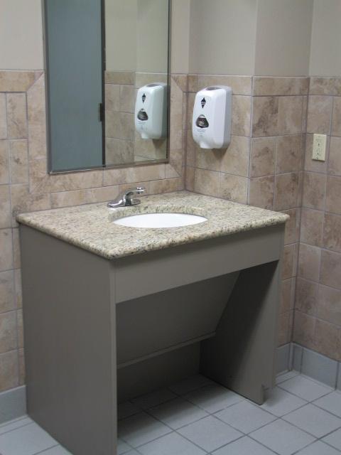 Austin Commercial Cabinets - Ada compliant floor tiles