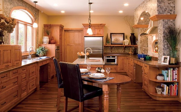 Wheelchair accessible kitchen designs