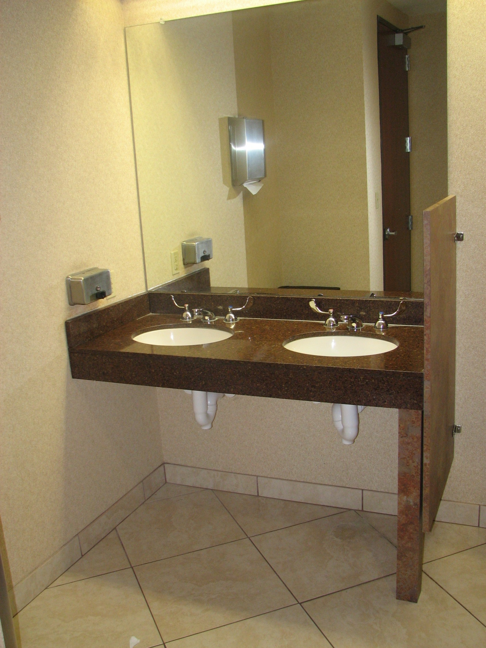 Vanity access for wheelchair - Granite Vanity Top With Pipe Wrap Protection