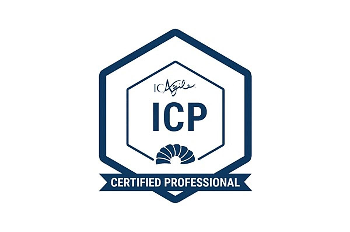 ICAgile Certified Professional badge.