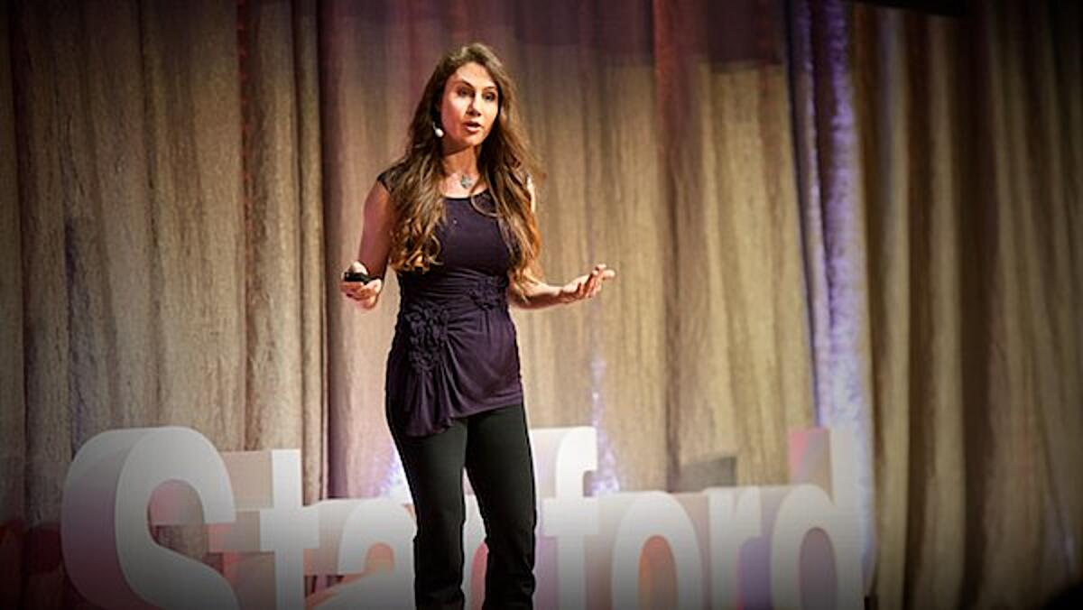 Click the photo of Marily Oppezzo presenting to view her TED talk.