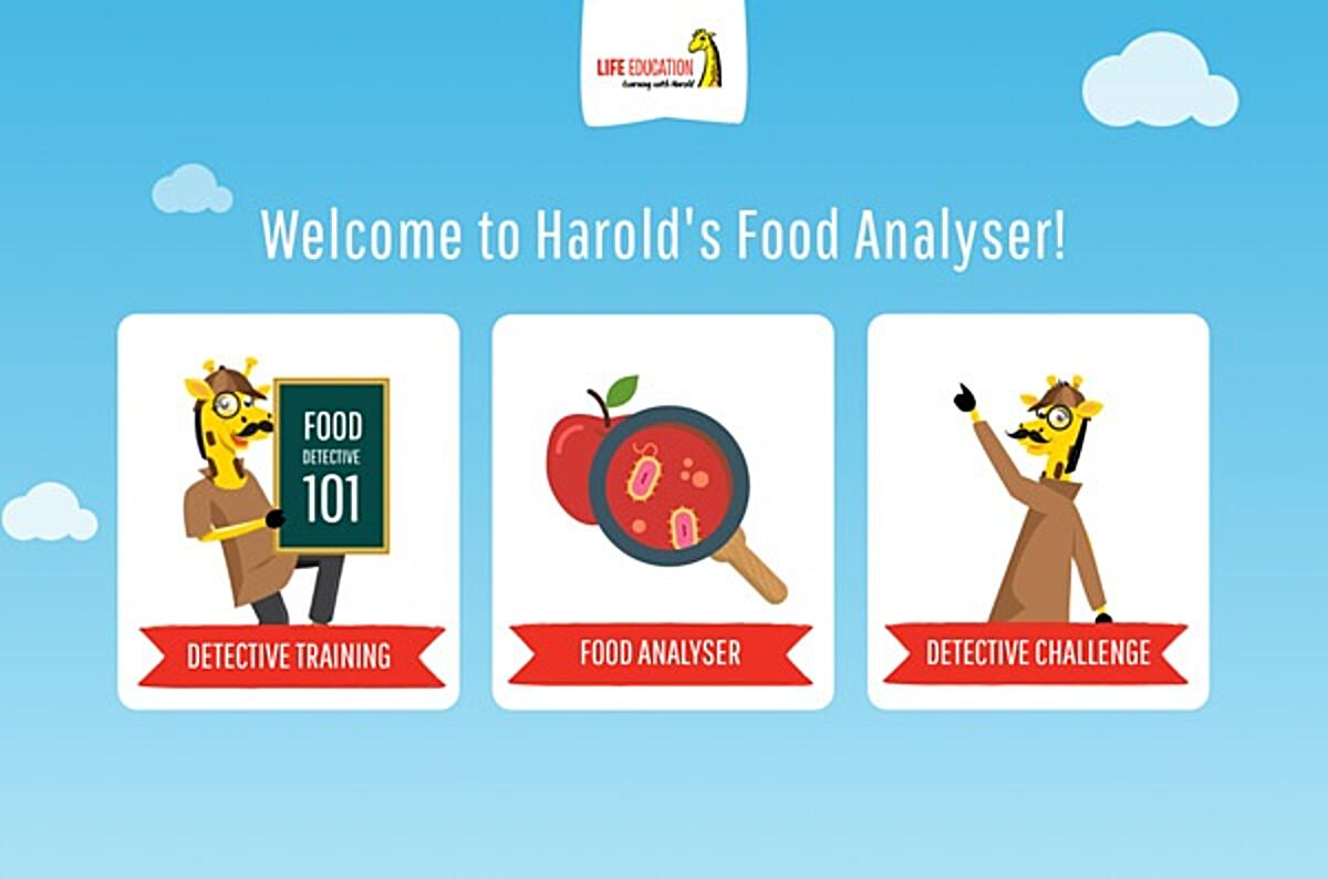 Click the Food Analyser screenshot to learn about being a food detective with Life Education.