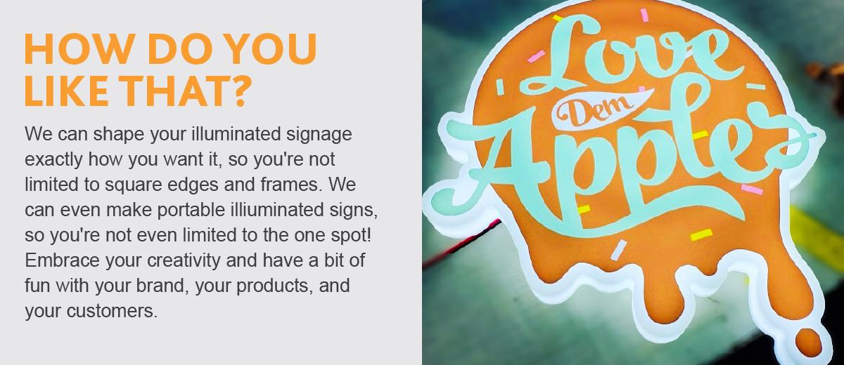 Custom Shaped Signage