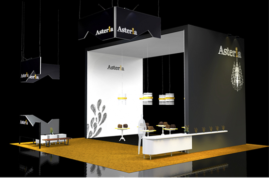 Exhibition Booth Website : Two side open booth design