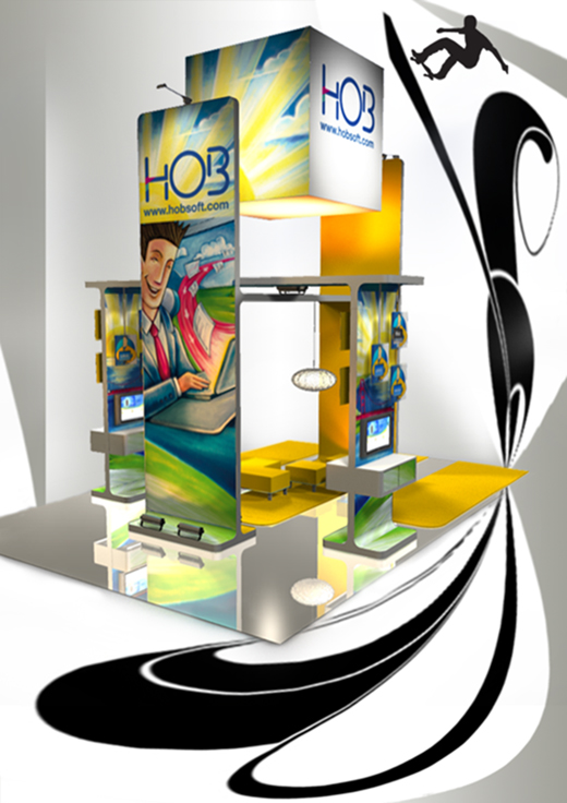 Modish Trade Show Booth Design: Bend The Trend
