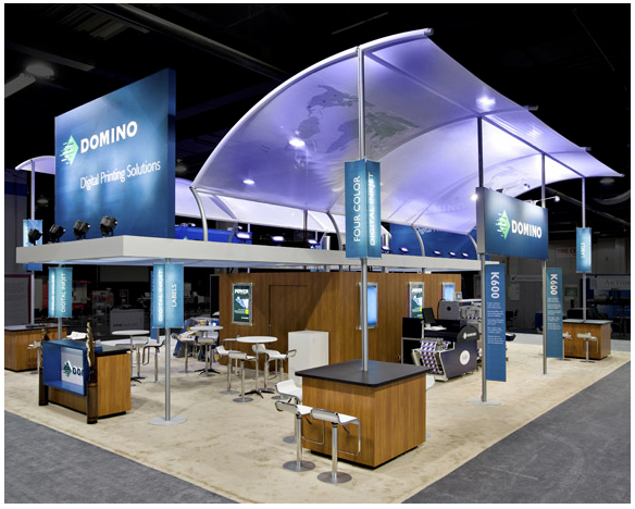 Trade Show Booth Objectives : Custom trade show booth domino digital