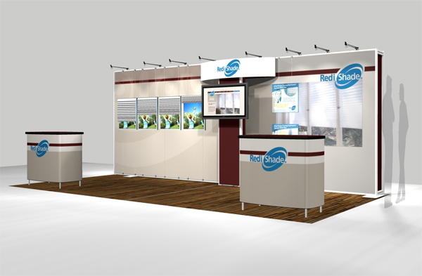 Trade Show Booth Objectives : Fabric tradeshow booth redishade