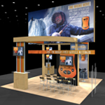 Booth Design with multiple features